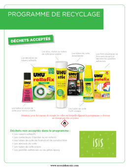 ISIS recyclage de tubes de colle usagers